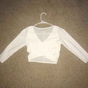 Laced white crop top